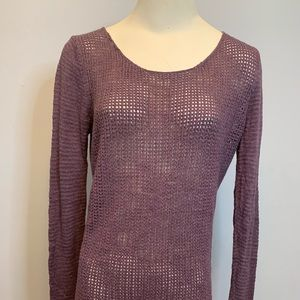 Mossimo Purple Tunic See-through Sweater